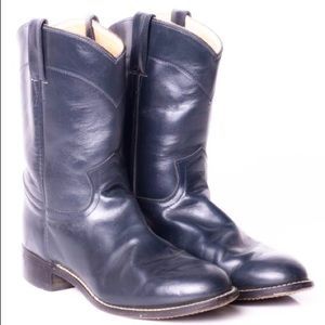 🔥Navy Blue Justin Cowboy Boots (6.5B)